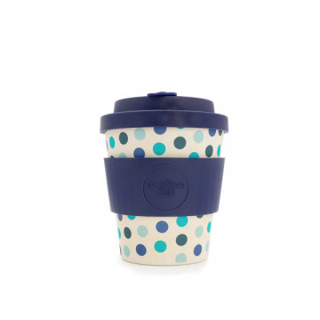 Bamboo polka blue cup 240 ml