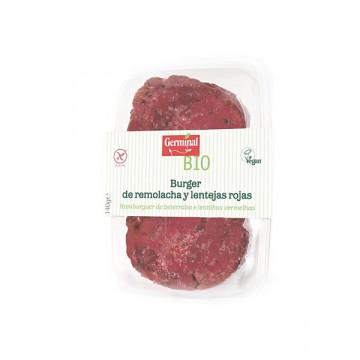 Beetroot red lentil burger...