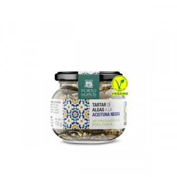 Black olive seaweed tartar...