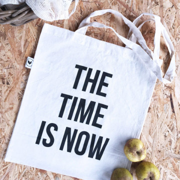 BOLSA COMPRA TOTE 'TIME IS...