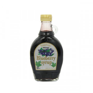 Blueberries syrup bottle...
