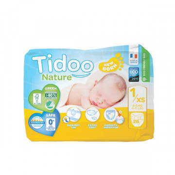 Diapers T1 2-5 kg 26 uds