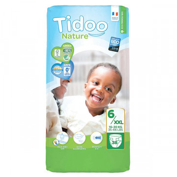 Diapers T6 16-30 kg 38 uds
