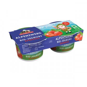 Children red fruit yogurt...