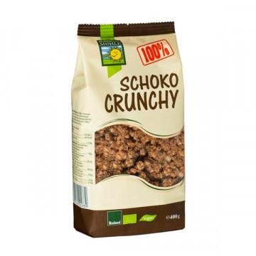 Crunchy dark chocolate...